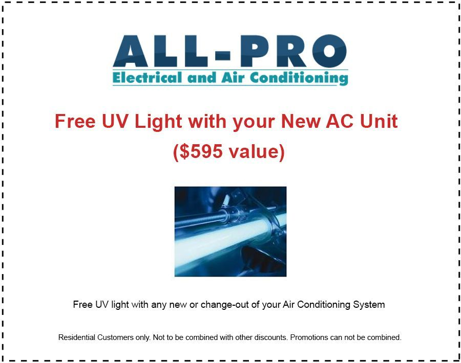 Air Conditioning Boca Raton- All Pro free UV light